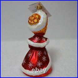 Christopher Radko VERA-ELLEN White Christmas Ornament 99-wht-01 Very RARE