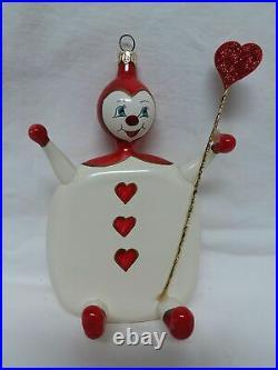 Christopher Radko WHAT A CARD Hearts Ornament Italian Alice in Wonderland 1996