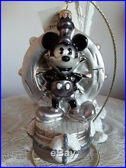 Christopher Radko Walt Disney Steamship Mickey Ornament