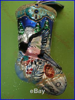 Christopher Radko Winterwood Wings Stocking