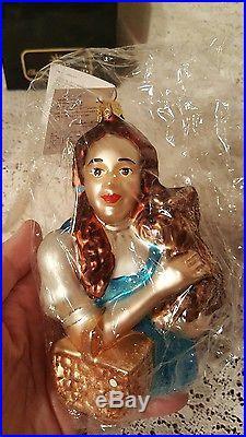 Christopher Radko Wizard of Oz Dorothy & Toto Ornament Sealed LE 4249/10000