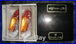 Christopher Radko Wizard of Oz Ruby Slippers LE 2687/10000 Glass Ornament NIB
