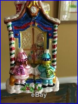 Christopher Radko Workshop Wonder Christmas Ornament Window 2 Sided