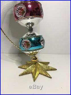 Christopher Radko X-Mas Ornament 3 Tier Twinkle Round 2005 Master Craftsman Drop