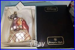 Disney Christopher Radko Lady and the Tramp Glass Ornament