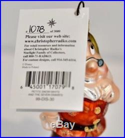 Disney Radko Petite Snow White And The Seven Dwarves Ornament Set #1078/3000 Le