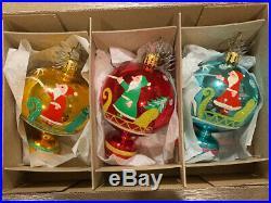 Fantasia By Christopher Radko Set Of 3 Ornaments
