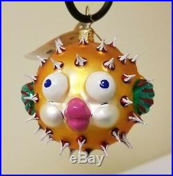 HTF Christopher Radko PUFF A KISS Christmas Ornament with tag and charm