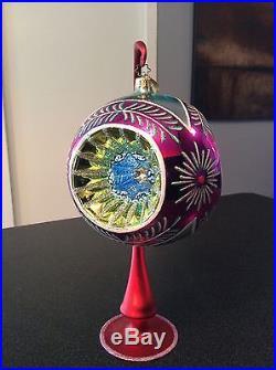 Huge 6 Christopher Radko Fantasia Grand Stardust Memories Ornaments Set of 2