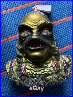 LARGE Radko Creature From The Black Lagoon Universal Monsters Christmas Ornament