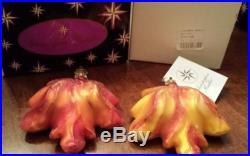 LOT OF EIGHT (8) CHRISTOPHER RADKO FALL HALLOWEEN ORNAMENTS IN BOXES. 99 NR