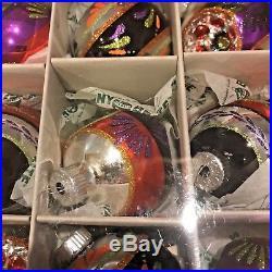 Large Christopher Radko Shiny Brite Halloween Ornament and Garland Lot