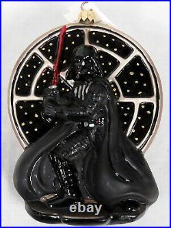 Lot 6 Christopher Radko Star Wars Ornaments, Darth Vader, C-3PO, Stormtrooper, Tags