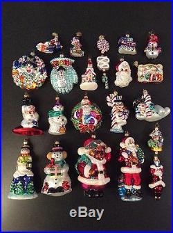 Lot Of 20 Christopher Radko Ornaments Set #2