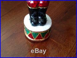Lot Of 3 CHRISTOPHER RADKO CHRISTMAS Ornaments Santa Nutcracker & Christmas Tree