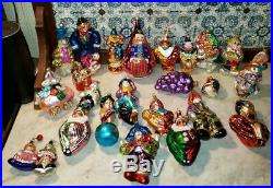 Lot of 22! Christopher Radko Easter Holiday Glass Christmas Ornaments! ESTATE