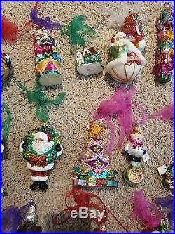Lot of 34 Christopher Radko Ornaments some with boxes