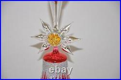 Master Craftsman Red Bell Christopher Radko Glass Christmas Ornament Rare