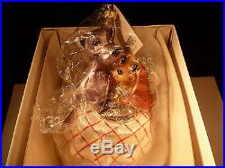 New Christopher Radko Ornament Lady And The Tramp Disney Exclusive Numbered