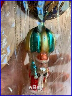 NEW Radko Starbuck santa 10 inches 1994 mint condition with tags glass ornament