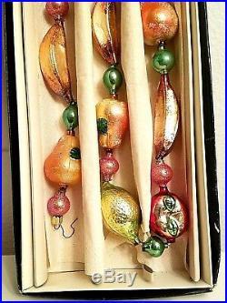 NIB 1999 Christopher Radko DELLA ROBBIA Garland 95-308-0 Fruit Bananas Ornament