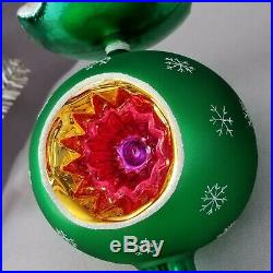 NWT 2003 Christopher Radko Christmas WINTER FROSTED TREE Ornament Topper FINIAL