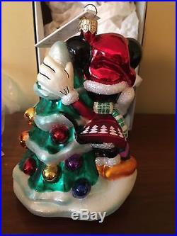 NWT Christopher Radko 1995 Disney Christmas Minnie Mouse Ornament Mickey's Tree