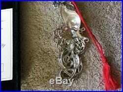 New Christopher Radko Winter Spirit Santa Sterling Silver Ornament #1880/5000
