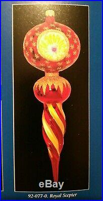 Pink 92-087- Christopher Radko Royal Scepter Blown Glass Christmas Ornament 10