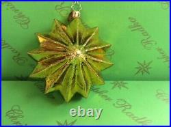 Prototype Radko Star Santa Glass Ornament