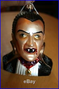 RARE Christopher Radko Dracula Ornament Universal Studio 1997 Bust Halloween