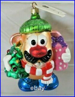 RARE Christopher Radko MR POTATO HEAD Lumberjack Christmas Ornament withTag