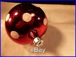 Rare Early Christopher Radko Christmas Ornament Mushroom 1st Year Signed