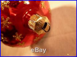 Rare Early Christopher Radko Christmas Ornament Royal Scepter 3 Reflector Signed