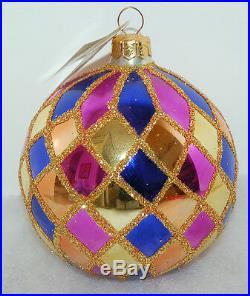 RET Vintage Radko HARLEQUIN Christmas Ornament 88-026-0 New colorization 1996