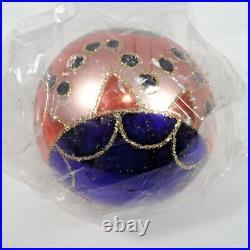 Radko 1992 MISSION BALL VintageBlue Pink & Orange Ornament NEW! STILL SEALED