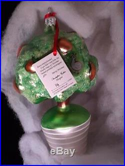 Radko 1993 PARTRIDGE IN A PEAR TREE LTD ED 1st DAY Christmas Ornament RARE