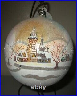 Radko ALPINE PORTRAIT #1 Ball Christmas Ornament New NWT +Box RARE 1012098