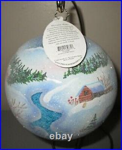 Radko ALPINE PORTRAIT #2 Ball Christmas Ornament New NWT +Box RARE 1012098