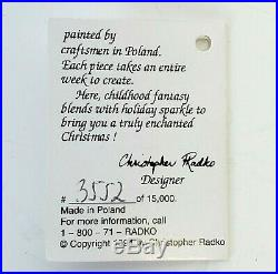 Radko And Snowy Makes Eight Disney Snow White & 7 Dwarfs 1995 Ornament Set