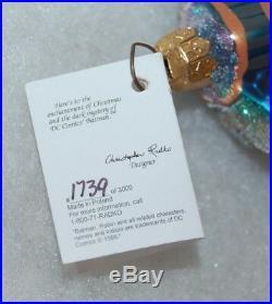Radko BATMAN Christmas Ornament 97-WBB-T LTD ED 1739/3000