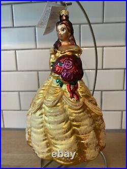 Radko BELLE DISNEY LE 2288/5000 Beauty & The Beast 1998 ornament 7.5 Tag MINT