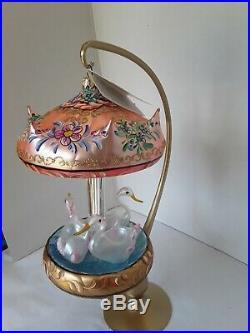 Radko CAROUSEL OF DREAMS Italian glass ornament withtag &`box LE 1305/2500 MIB