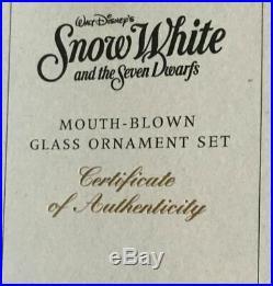 Radko DISNEY SNOW WHITE ORNAMENT SET NEW 98DIS43 QUEEN MIRROR HAG EVIL 7 USA