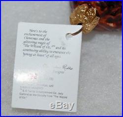 Radko DOROTHY & TOTO Christmas Ornament 97-WB-18 WIZZARD OF OZ LTD ED 568/10K