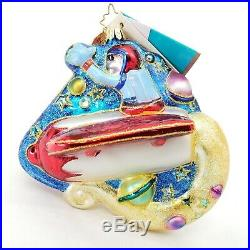 Radko Disney Exclusive Disneyland Tomorrowland Goofy 50th Ornament with Tags Box