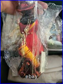 Radko Disney Peter Pan Ornament Set Tinkerbell Wendy Hook Jolly Roger MINT