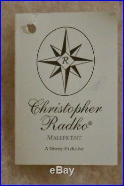 Radko Disney Sleeping Beauty Maleficent 1631/3500 Glass Ornament 00-DIS-46