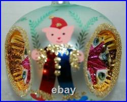 Radko ELF REFLECTOR Christmas Ornament 91-135-1 TRIPPLE REFLECTOR W. BALL DROP