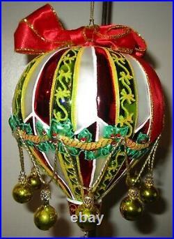 Radko HOLIDAY HIGH 10102928 Santa Claus Hot Air Balloon Christmas Ornament NWT